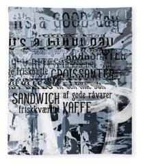 Kaffe 1- Art By Linda Woods Fleece Blanket