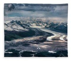 Kahiltna Glacier Fleece Blanket