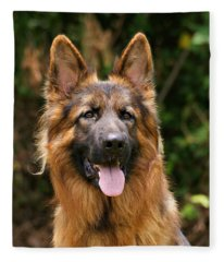Kaiser - German Shepherd Fleece Blanket