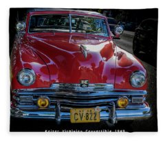 Kaiser Virginian Deluxe - 1949 Convertible Fleece Blanket