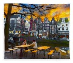 Kaizersgracht 451. Amsterdam Fleece Blanket