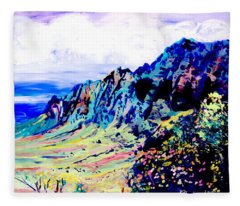 Kalalau Valley 4 Fleece Blanket