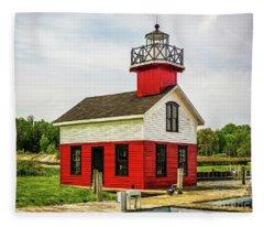 Kalamazoo Lighthouse Fleece Blanket