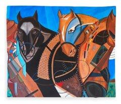 Kaleden Spirit Horse Fleece Blanket