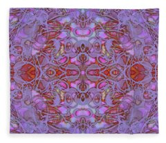 Kaleid Abstract Focus Fleece Blanket