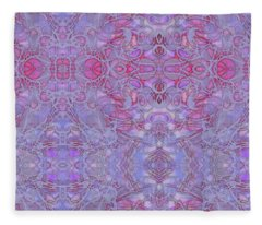 Kaleid Abstract Halo Fleece Blanket
