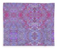 Kaleid Abstract Halo Fleece Blanket