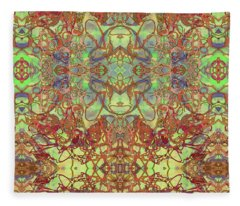 Kaleid Abstract Tapestry Fleece Blanket