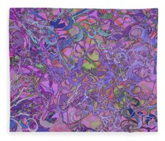 Kaleid Abstract Trip Fleece Blanket