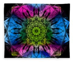 Kaleidoscope - Colorful Fleece Blanket