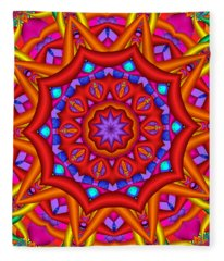 Kaleidoscope Flower 02 Fleece Blanket