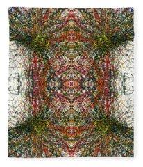 Kaleidoscope Mandalas #1115 Fleece Blanket