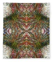 Kaleidoscope Mandalas #1116 Fleece Blanket
