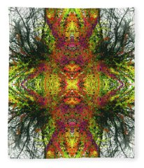 Kaleidoscope Mandalas #1120 Fleece Blanket