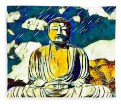 Kamakura Daibutsu Fleece Blanket