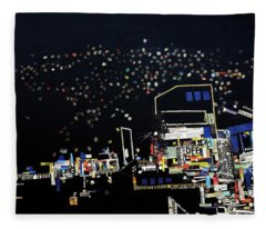 Kamwokya At Night Fleece Blanket