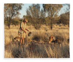 Kangaroo Sanctuary Fleece Blanket