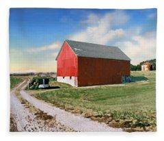 Kansas Landscape II Fleece Blanket