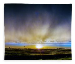Kansas Storm Chase Bust Day 005 Fleece Blanket