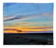 Kansas Sunrise1 Fleece Blanket