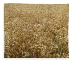 Kansas Wheat Fleece Blanket