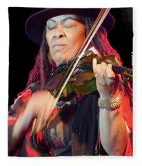 Karen Briggs 2017 Hub City Jazz Festival - In The Moment Fleece Blanket