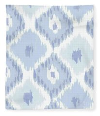 Kasbah Blue Ikat Fleece Blanket