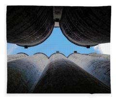 Katy Texas Rice Silos Fleece Blanket