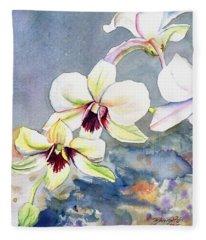 Kauai Orchid Festival Fleece Blanket
