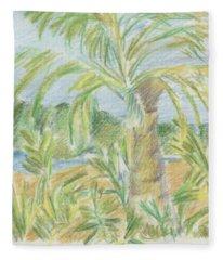 Kauai Palms Fleece Blanket