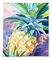 Kauai Pineapple 3 Fleece Blanket