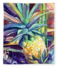 Kauai Pineapple 4 Fleece Blanket