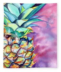 Kauai Pineapple 5 Fleece Blanket