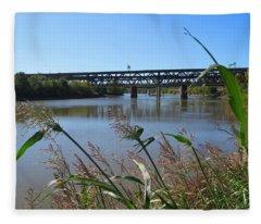 Kaw Point Bridges Fleece Blanket