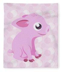 Kawaii Cute Piglet Fleece Blanket