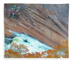 Kayaking The Gorge Fleece Blanket