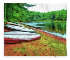 Kearney Lake Beach Fleece Blanket