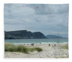 Keel Beach Achill  Fleece Blanket