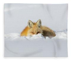 Snow Hide Fleece Blanket