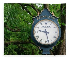 Keeneland Clock Fleece Blanket
