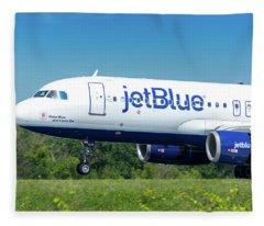 Keep Blue And Carry On Fleece Blanket