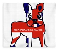 Keep Calm And Go Walkies Fleece Blanket
