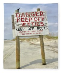Keep Off Jetties Fleece Blanket