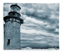 Keeping Watch- Lighthouse Blues Fleece Blanket