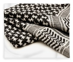 Keffiyeh Fleece Blanket