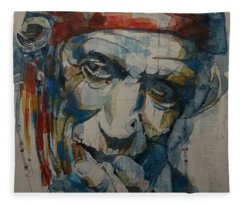Keith Richards Art Fleece Blanket