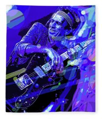 Keith Richards Blue Fleece Blanket