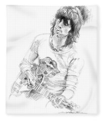 Keith Richards Exile Fleece Blanket