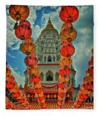 Kek Lok Si Buddhist Temple In Penang, Malaysia Fleece Blanket