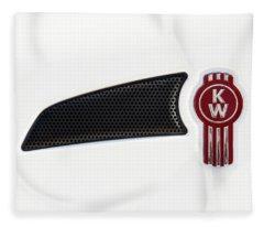 Ken Worth White Tractor 041418 Fleece Blanket